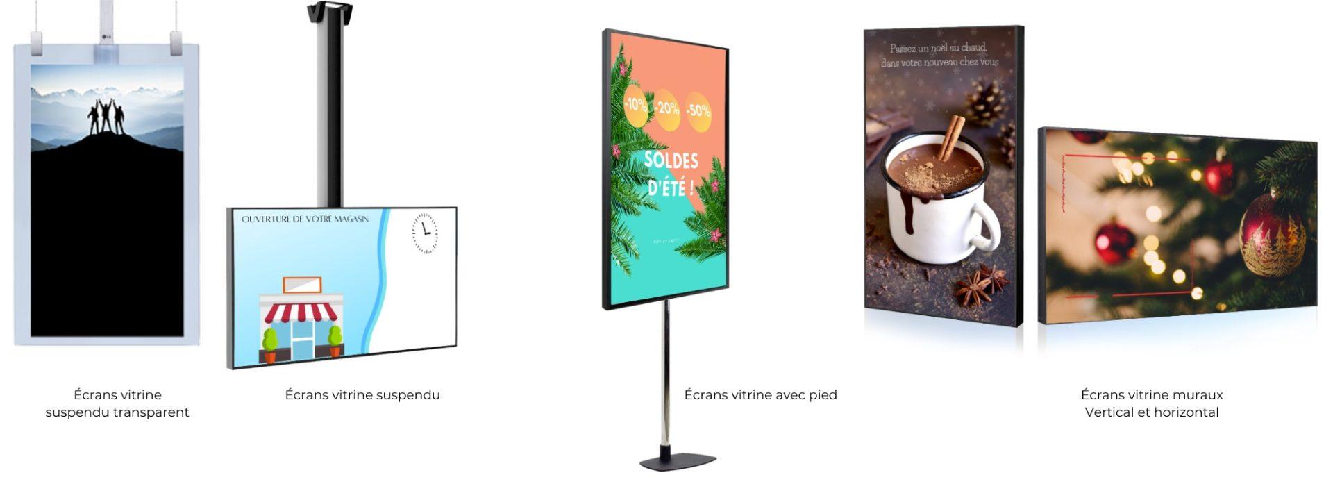 écrans vitrine : Emity.io